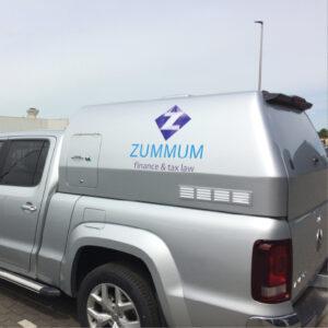 bedrijfswagen belettering zummum