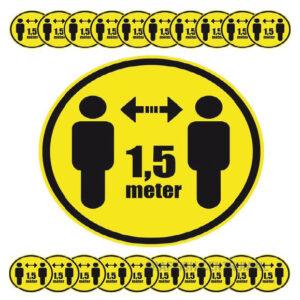 veiligheidsstickers anderhalve meter