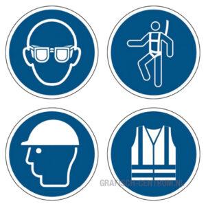 veiligheidsstickers blauw