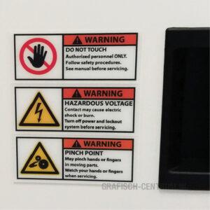veiligheid logistiek gevaarsticker