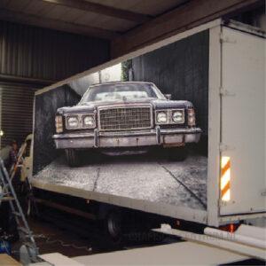 vrachtwagen belettering zijnkant